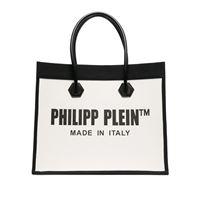 Philipp Plein borsa tote con stampa - toni neutri