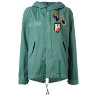 Mr & Mrs Italy parka con toppe - verde