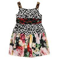Dolce & Gabbana Kids abito a stampa in crãªpe di seta