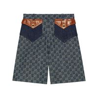 Gucci eco washed denim shorts - blu