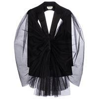 Alexander McQueen blazer in misto lana e tulle