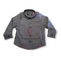Camicia sportiva collo moda con logo ricamato aspen polo club per bambini e ragazzi 6 mesi | 24 mesi anni logo centrale su fasce rosso | blu