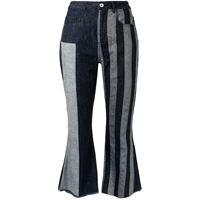 Marques'Almeida pantaloni con design patchwork - blu
