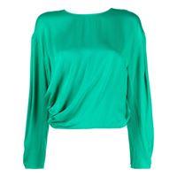 Ba&Sh blusa con maniche a spalla bassa - verde