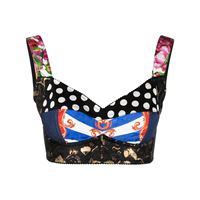 Dolce & Gabbana canotta corta con stampa patchwork - nero