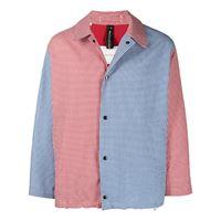 Mackintosh giacca con pannelli a contrasto - blu