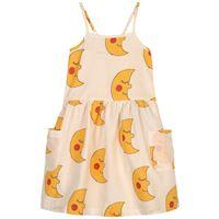 nadadelazos - moons vestito beige - bambina - 4 anni - beige