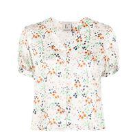L'Autre Chose blusa con scollo a v - bianco