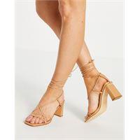 Forever New - scarpe con tacco e fascette color cuoio-neutro