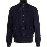 Altea giacca con bordo a coste - blu