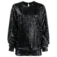 Isabel Marant top olivia con decorazione - nero