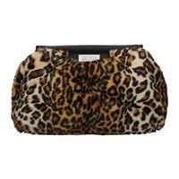 Maison Margiela pochette donna modacrilica marrone leopardato one size