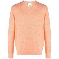 Allude maglione con scollo a v - arancione