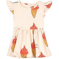 nadadelazos - strawberry ice cream vestito beige - bambina - 6 mesi - beige