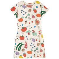 nadadelazos - fruits from the garden vestito ivory - bambina - 2 anni - ecru - avorio