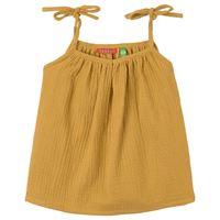 Bakker Made With Love - lison canotta verde - bambina - 8 anni - giallo