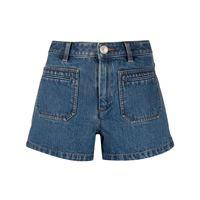 A.P.C. shorts denim roma con vita media - blu