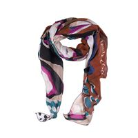 MANILA foulard manila grace trapezio ottanio