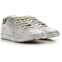 Maison Martin Margiela sneaker donna, argento, pelle, 2021, 35 36 37 38 39