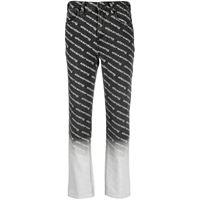 Alexander Wang jeans dritti con vita media - grigio