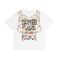 Burberry Kids t-shirt in jersey di cotone con stampa