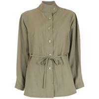 Alcaçuz camicia con nodo suri - verde