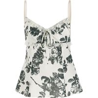 Brock Collection top smanicato a fiori - bianco