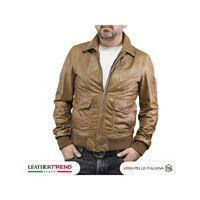Leather Trend Italy aviatore uomo in pelle vera di agnello regular fit