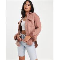Abercrombie & Fitch - camicia giacca di lana rosa