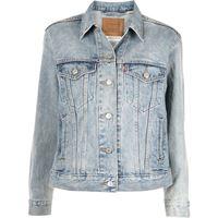 Levi's giacca denim ex-boyfriend trucker - blu