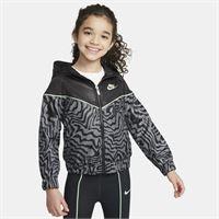 Nike giacca con zip a tutta lunghezza Nike sportswear windrunner - bambini - nero