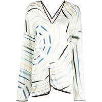 AMBUSH blusa con stampa - bianco