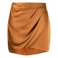 Michelle Mason minigonna drappeggiata - arancione