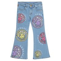 Versace Kids jeans flared a stampa