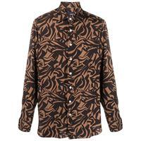 Lardini camicia con stampa - marrone