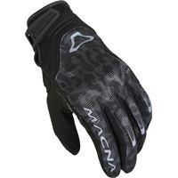 Macna guanti moto donna estivi Macna recon nero grigio scuro leopardo