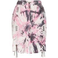 Angel Chen shorts con fantasia tie dye - rosa