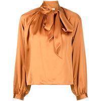 Michelle Mason blusa con fiocco - arancione