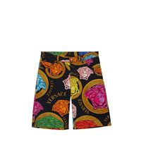 VERSACE shorts in gabardina di cotone stretch