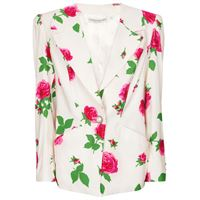 Alessandra Rich blazer a stampa floreale in faille