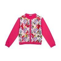 Dolce & Gabbana Kids cardigan a stampa in seta e cotone