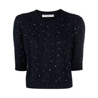 Alessandra Rich top con paillettes - blu