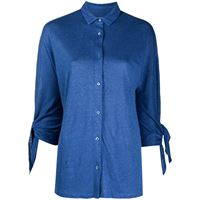 Majestic Filatures camicia con nodo - blu