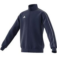 adidas core 18 tk t, felpa con zip unisex bambini, blu (dark blue/white), 140 (9-10 y)