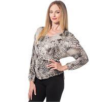 Officina della Moda blusa made in italy fantasia animalier