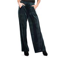 Officina della Moda pantaloni ampi in velluto jacquard