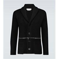 Alexander McQueen cardigan in lana con zip