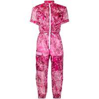 Mr & Mrs Italy tuta intera blossom con stampa camouflage - rosa