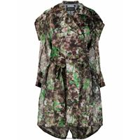 Mr & Mrs Italy trench blossom con stampa camouflage - verde