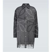 LOEWE camicia anagram in lana e cashmere